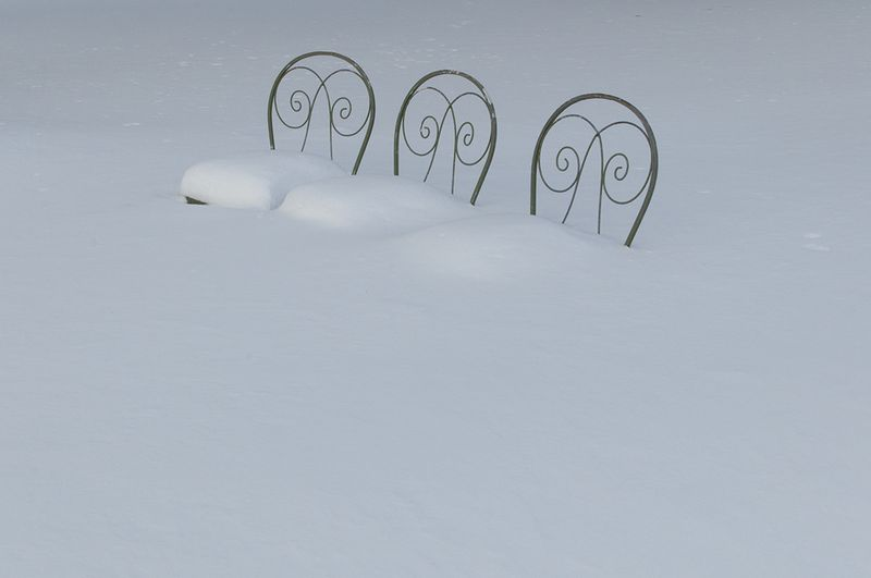 Chairs with more snow