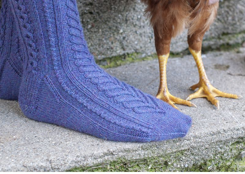 Sweetheart socks with chicken feet