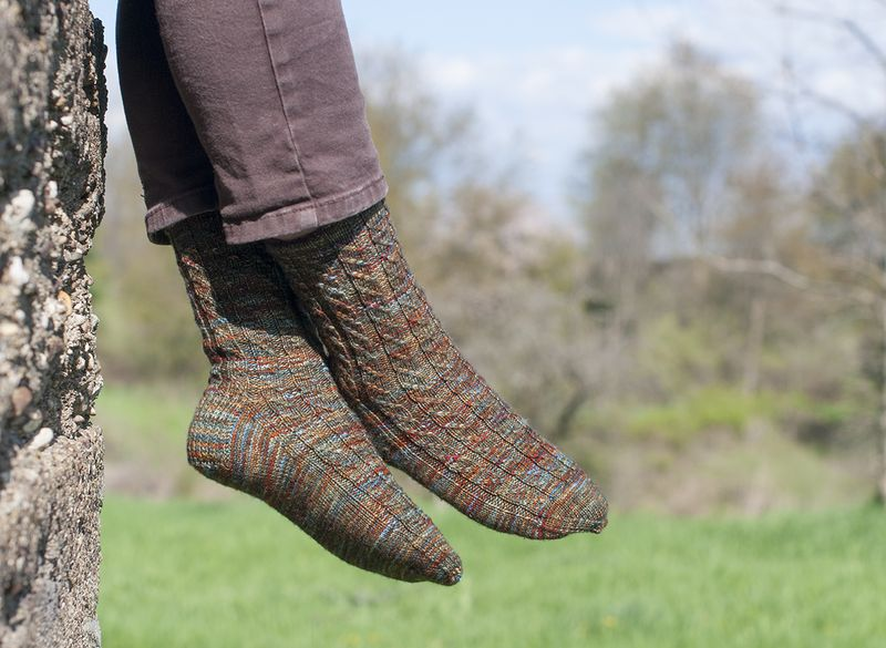 Painted damsel socks