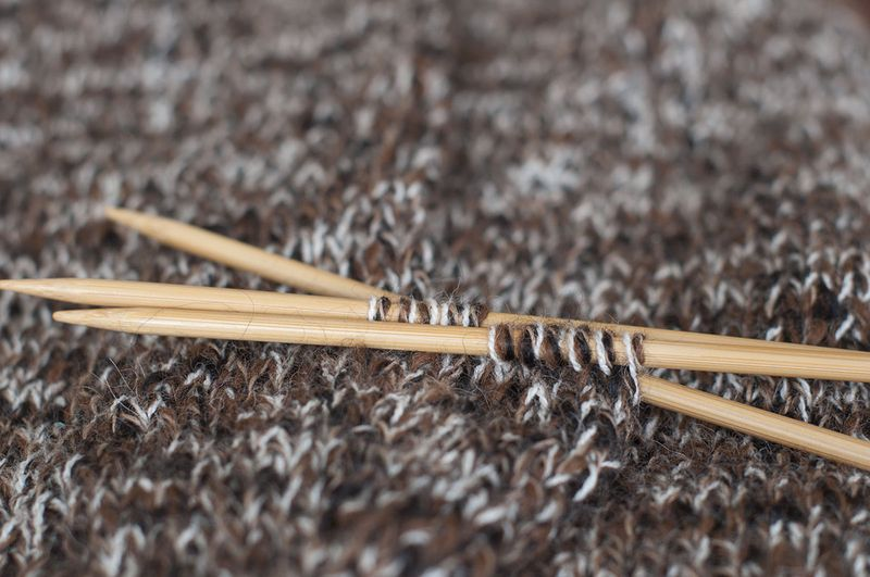 Knitting alpaca