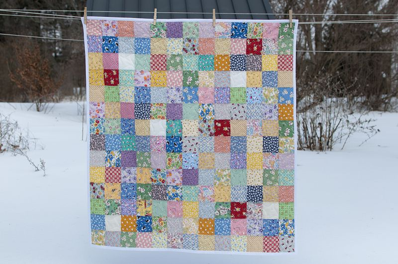 Quick and easy baby quilt full view