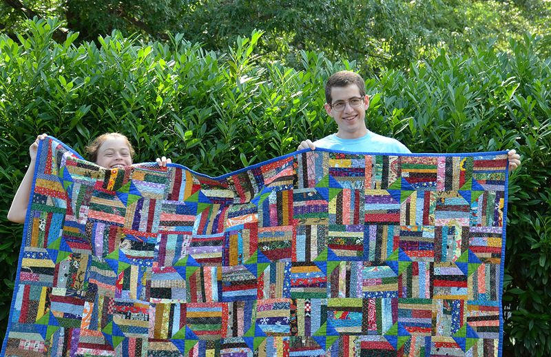 Wind Farm variation Frances and Carson with quilt 6 29 15
