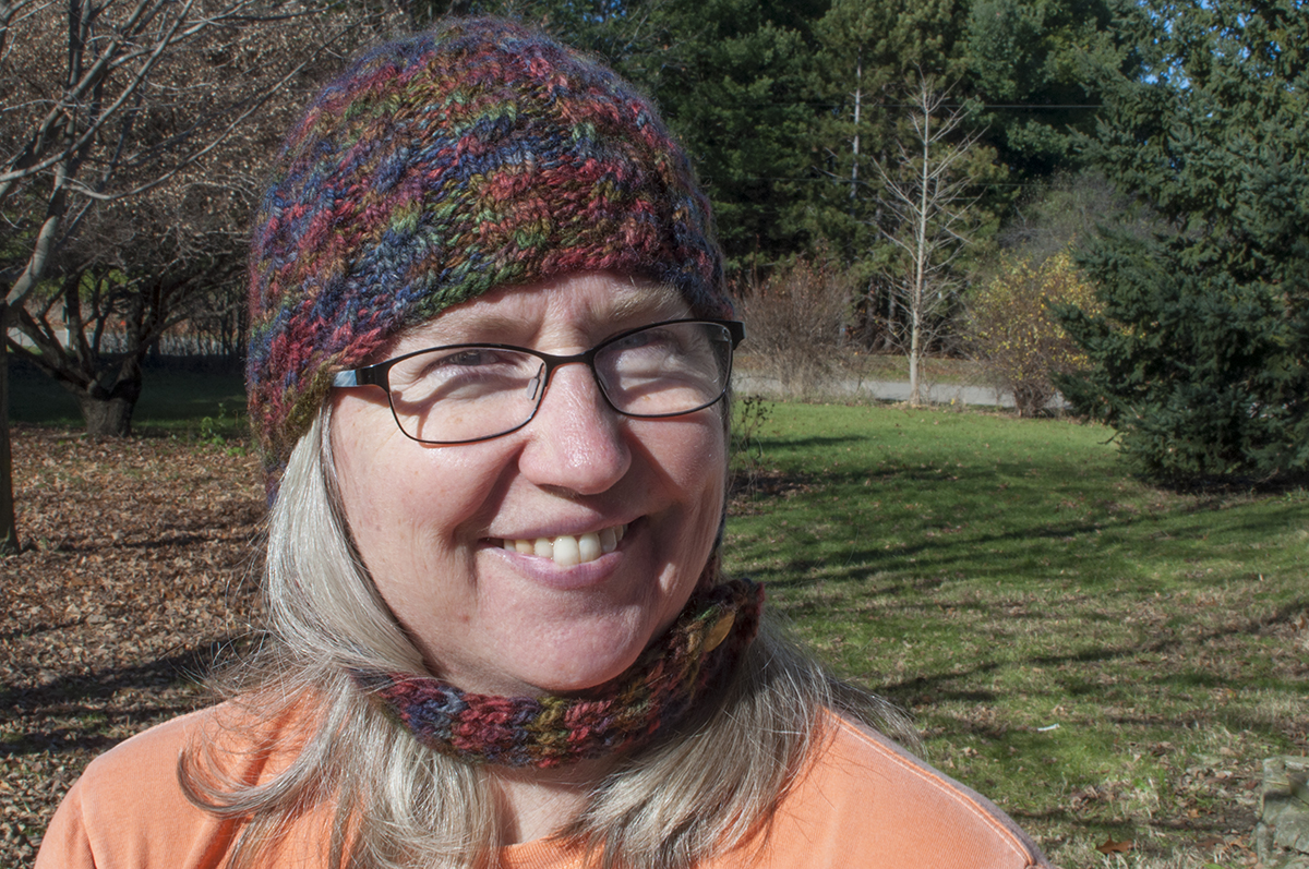 Helmet Hat - with extended cables - Lynn Carson Harris