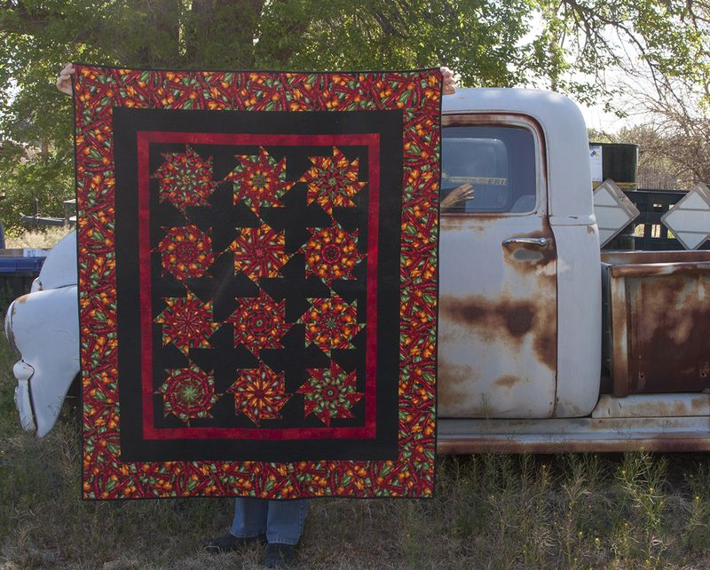 Chili pepper quilt
