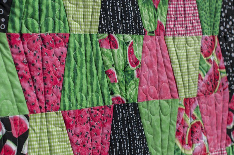 Picnic quilt close up