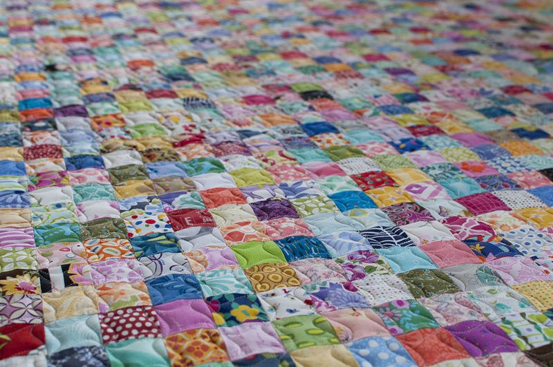Postage stamp quilted