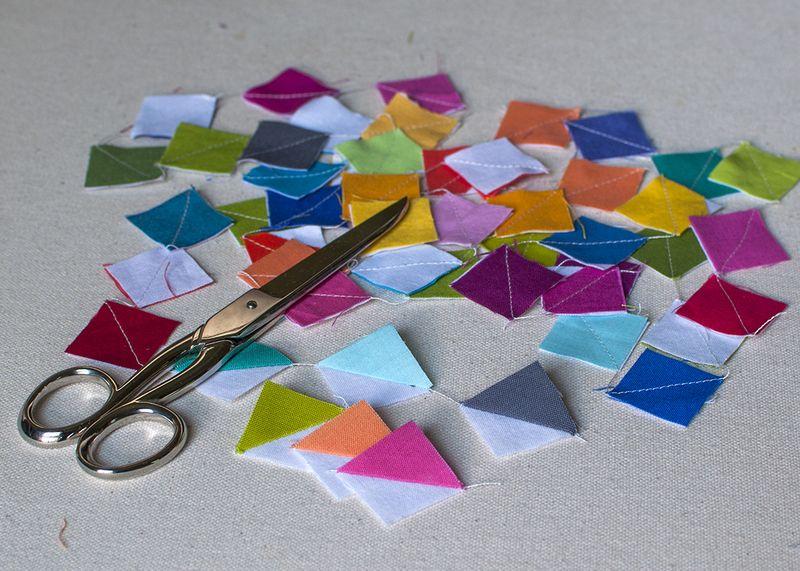 Sizzix squares sewn