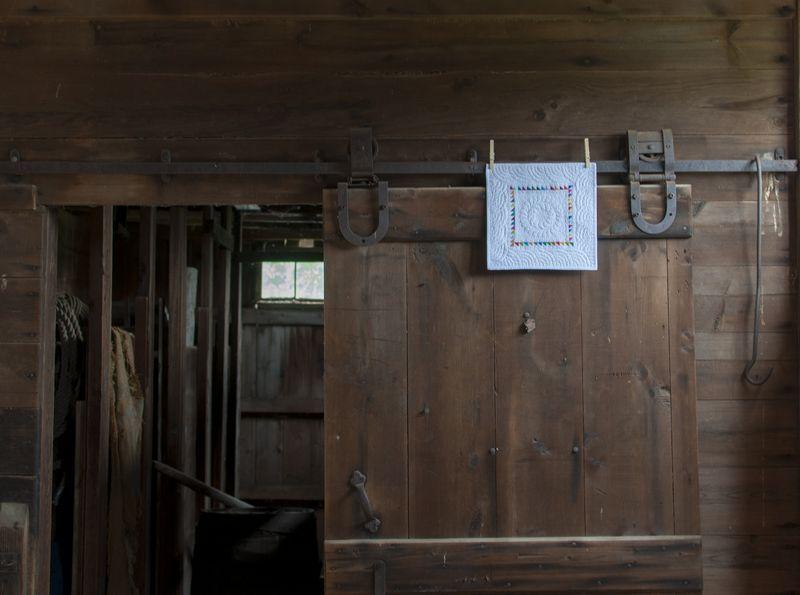 Framed in the barn
