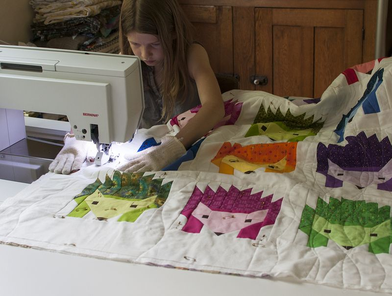 Hedgehog quilting