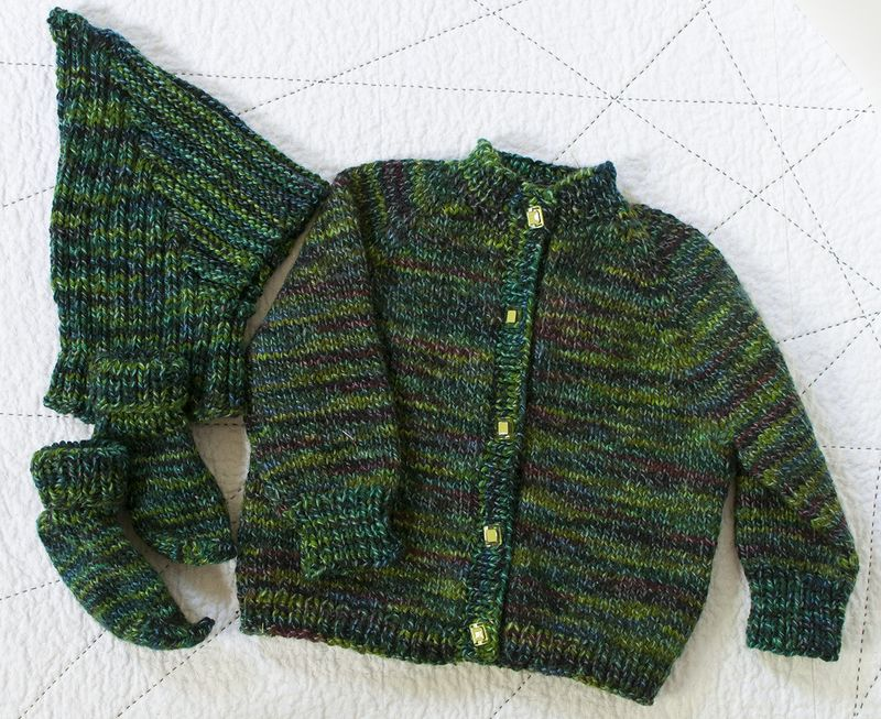 Baby sweater ensemble