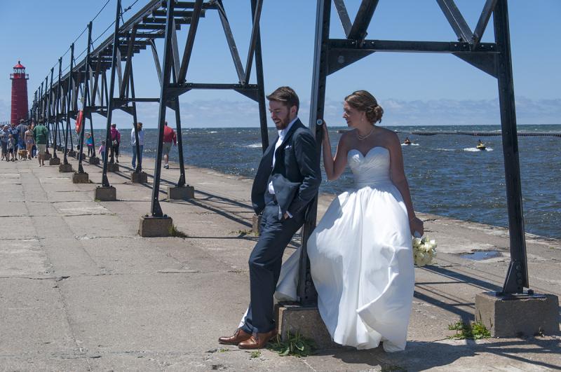 Wedding - on the pier